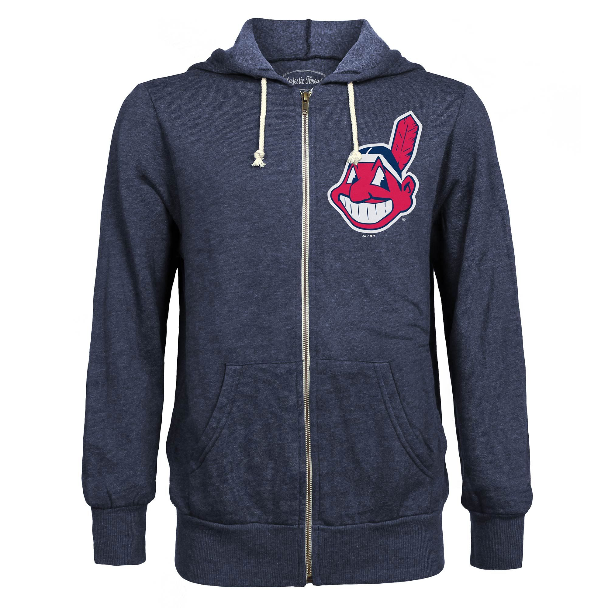 info for 5c166 94b24 Majestic Threads Cleveland Indians Navy Distressed Tri-Blend ...