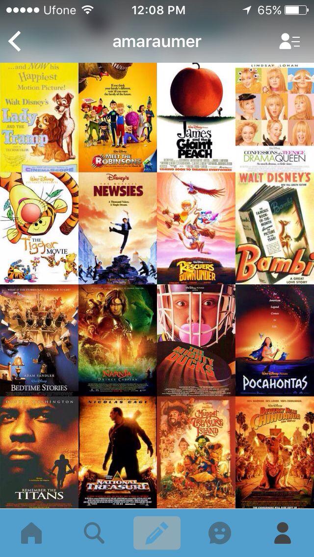 Disney movies list