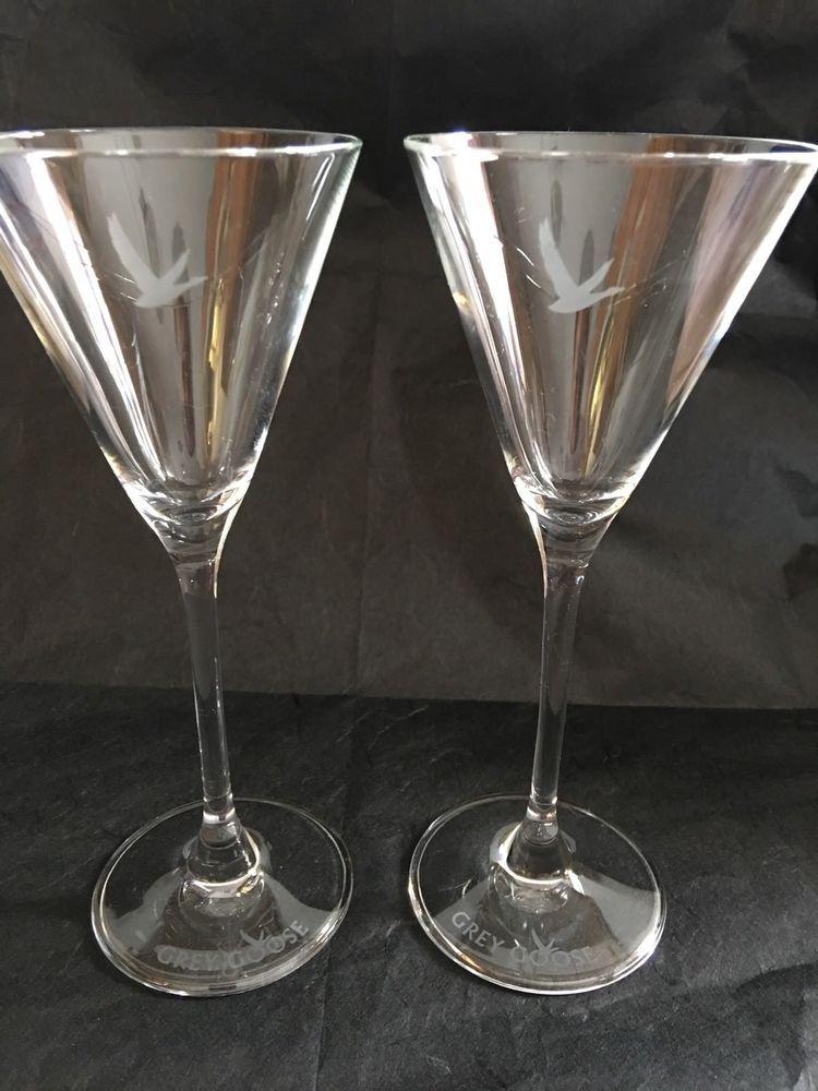 4 oz martini glasses grey goose martini glasses glass vodka cocktail clear etched oz 2 ebay 2