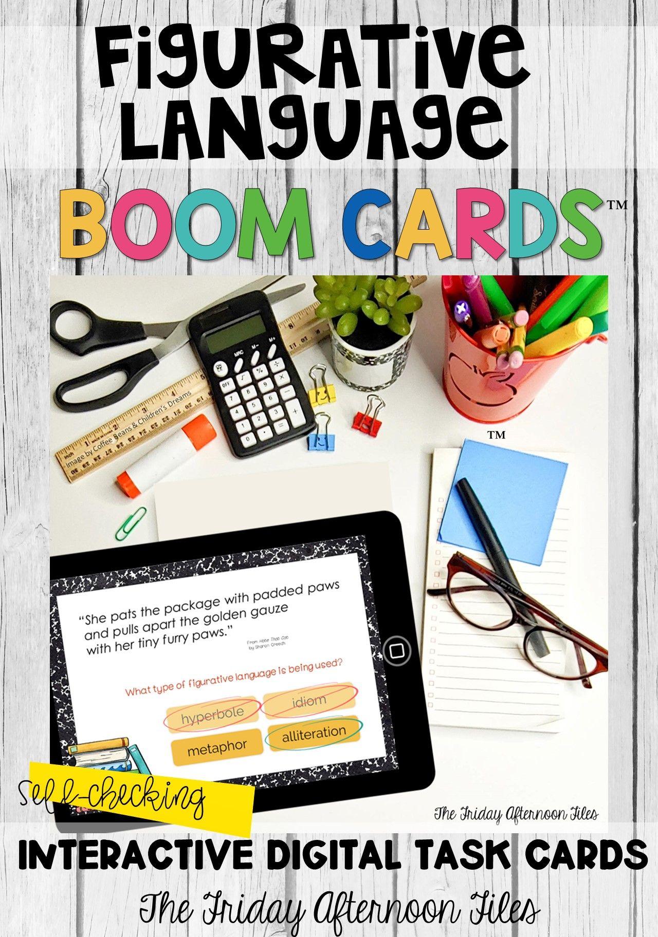 Figurative Language In Children S Literature Boom Cards