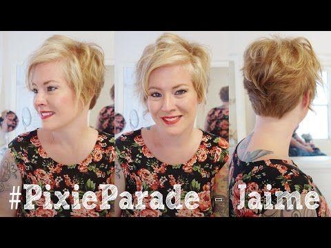 Pixie Haircut Transformation - Jaime's Pixie Befor