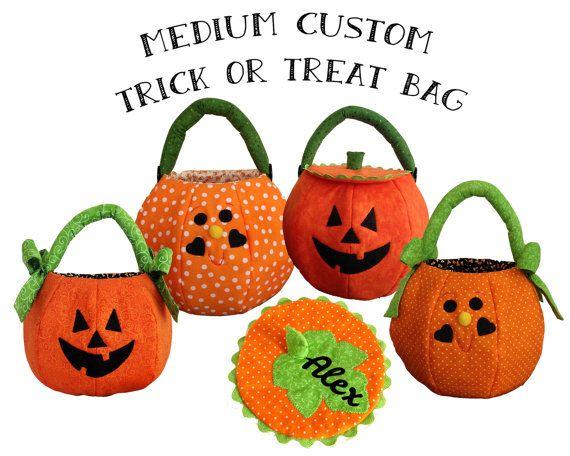 Personalized Bag Trick Or Treat Pumpkin