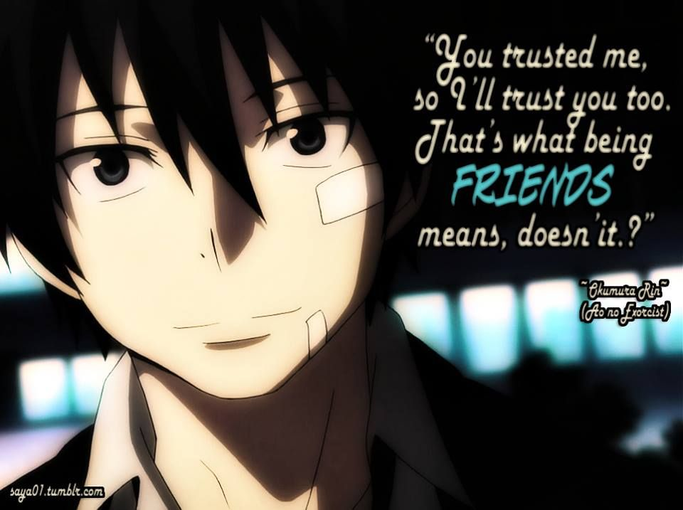 Anime Quote 60 By AnimeQuotesdeviantart On DeviantART Classy Anime Quotes About Friendship
