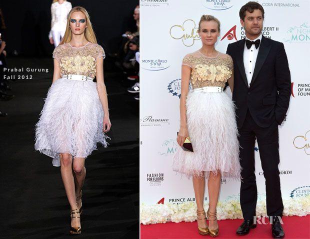 Perfection!! Diane Kruger In Prabal Gurung – 'Nights In Monaco' Gala Fundraiser