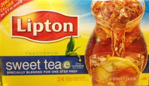 24 Gallon Size Lipton Sweet Iced Tea Bags 1 Box Per Order