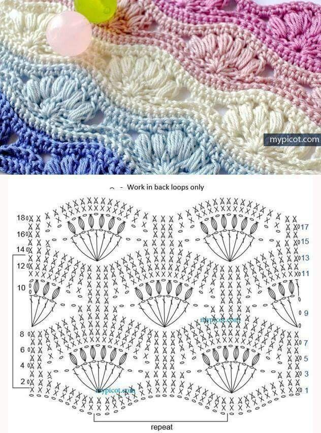 Muschelmuster   Crochet-5: Crochet Stitches, Techniques, Motifs ...