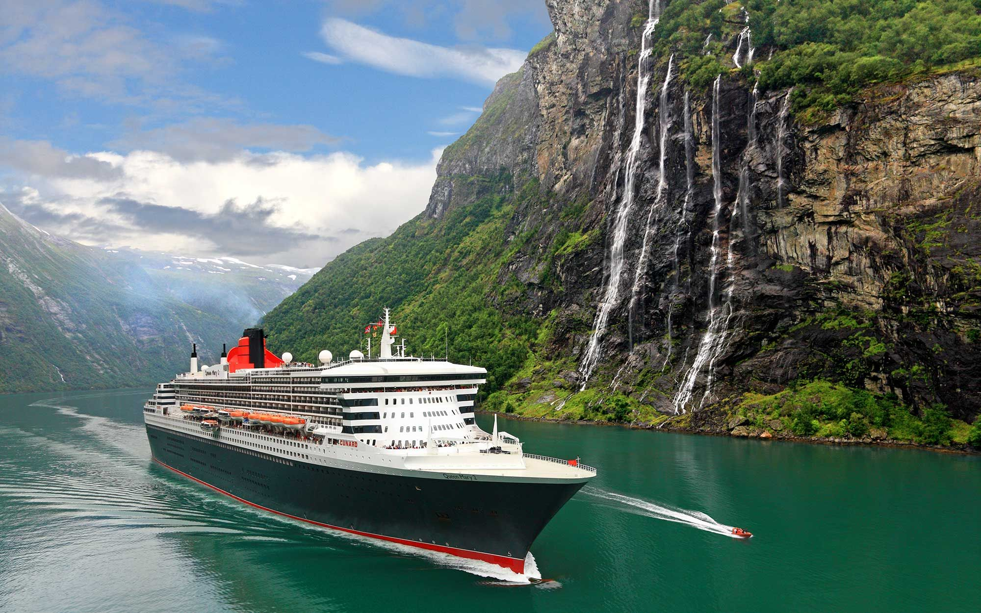 "No. 1: Cunard cruise lines ranked number1 by T&L for the Queen Mary 2. ""The service made us feel like Royalty."""