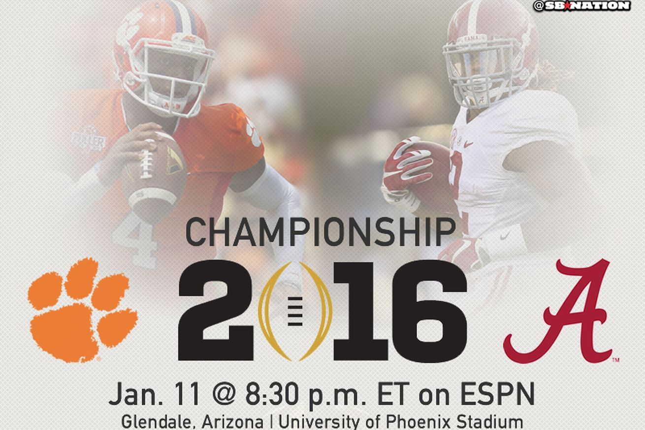 Alabama vs. Clemson is officially your National