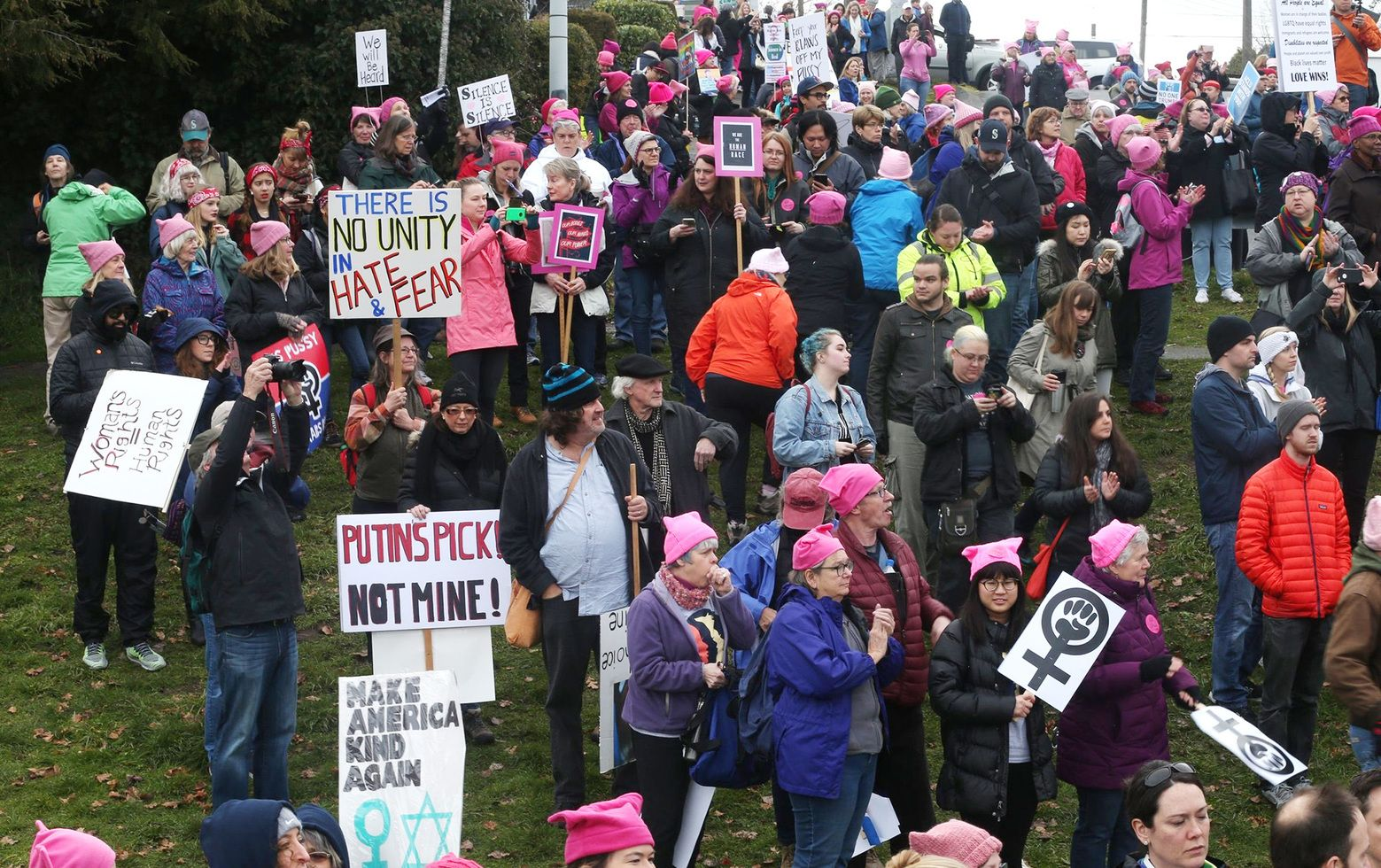 Thousands Of Women Participate Saturday In The Womxn S March On Seattle Erika Schultz The Seattle Times Women S Rights Seattle Seattle News
