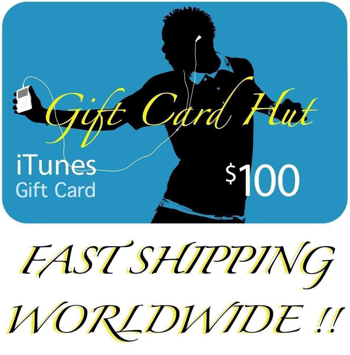 $100 US iTunes Gift Card Certificate Apple USA USD iTune 100
