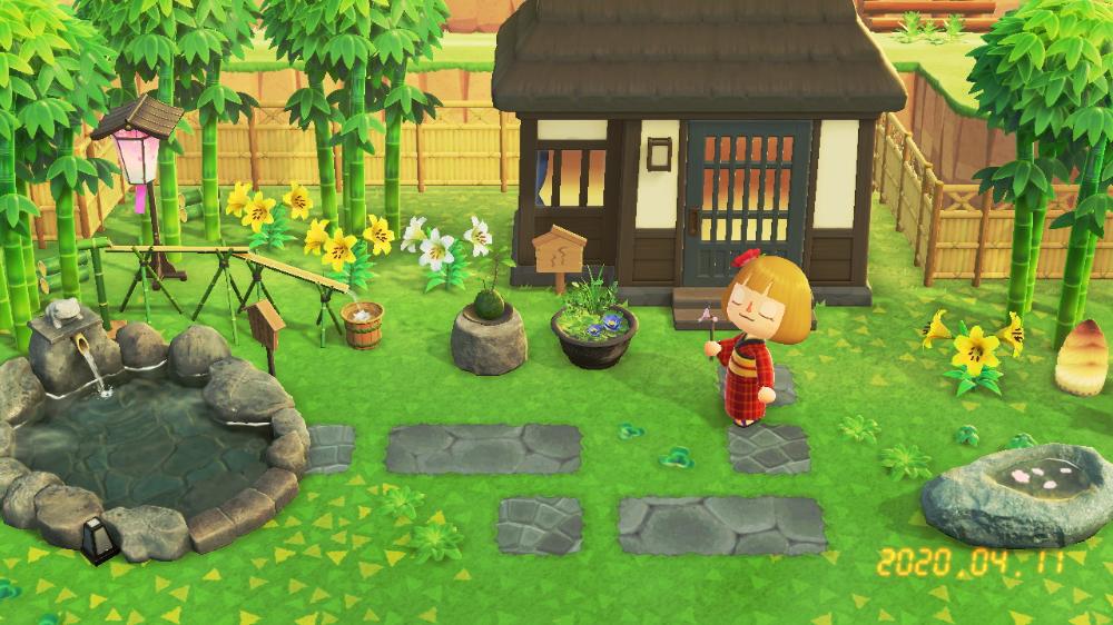 庭園 あつ 森 和風