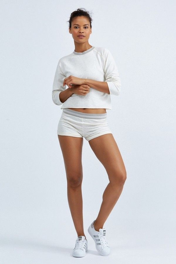 Raw Vintage Shorts With Band by Bandier