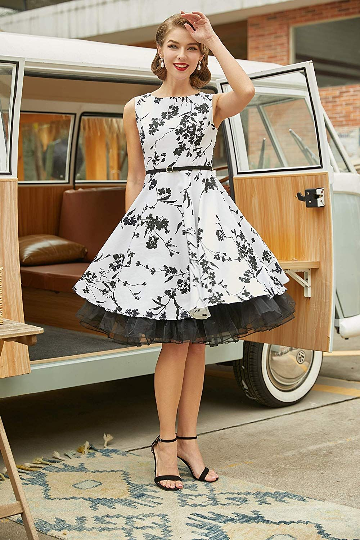 Grace Karin Boatneck Sleeveless Vintage Tea Dress With Belt Vintage Tea Dress Tea Dress High Tea Dress [ 1500 x 1000 Pixel ]