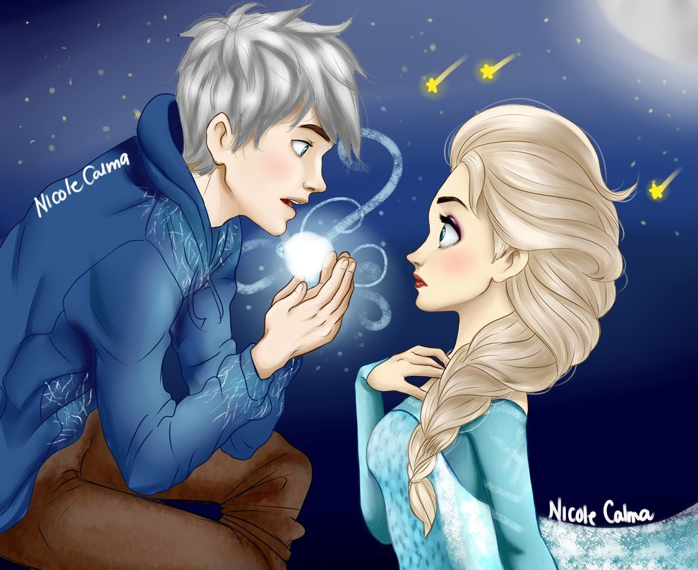 Jack frost and elsa from Frozen Hope you like SEXYYY time
