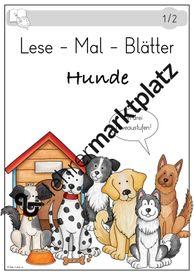 Lese-Mal-Blätter – Hunde – Unterrichtsmaterial im Fach Deutsch
