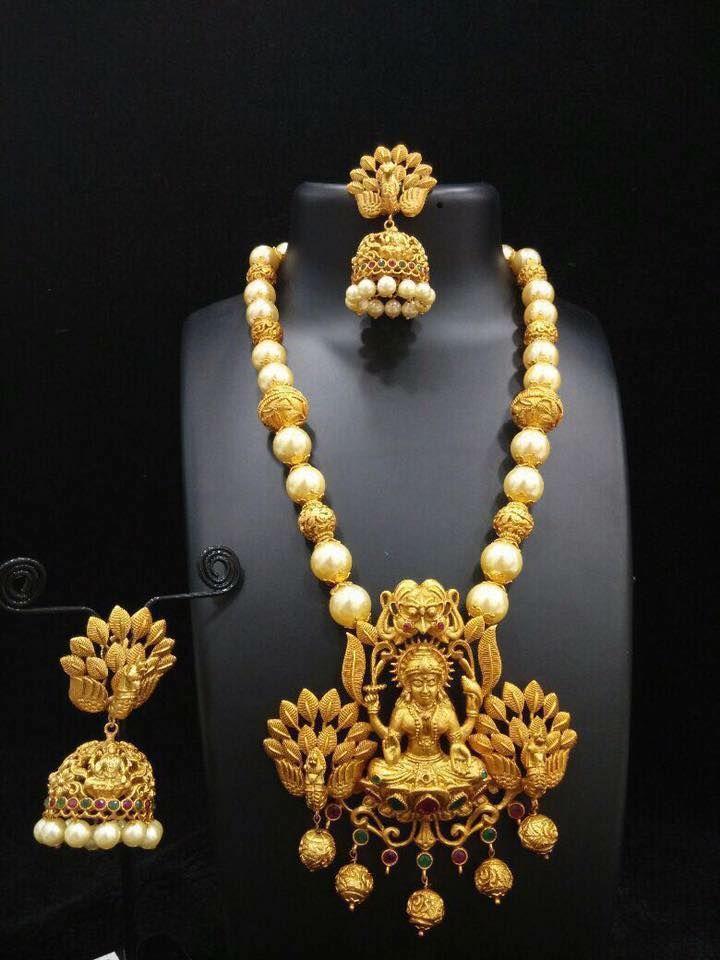 Lakshmi Pendants With Jhumkas In Imitation Wedding
