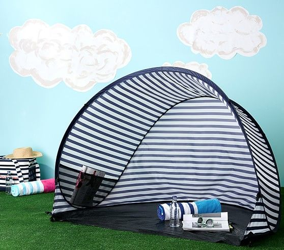 Navy Stripe Family Pop Tent Baby Beach Tent Beach Gear