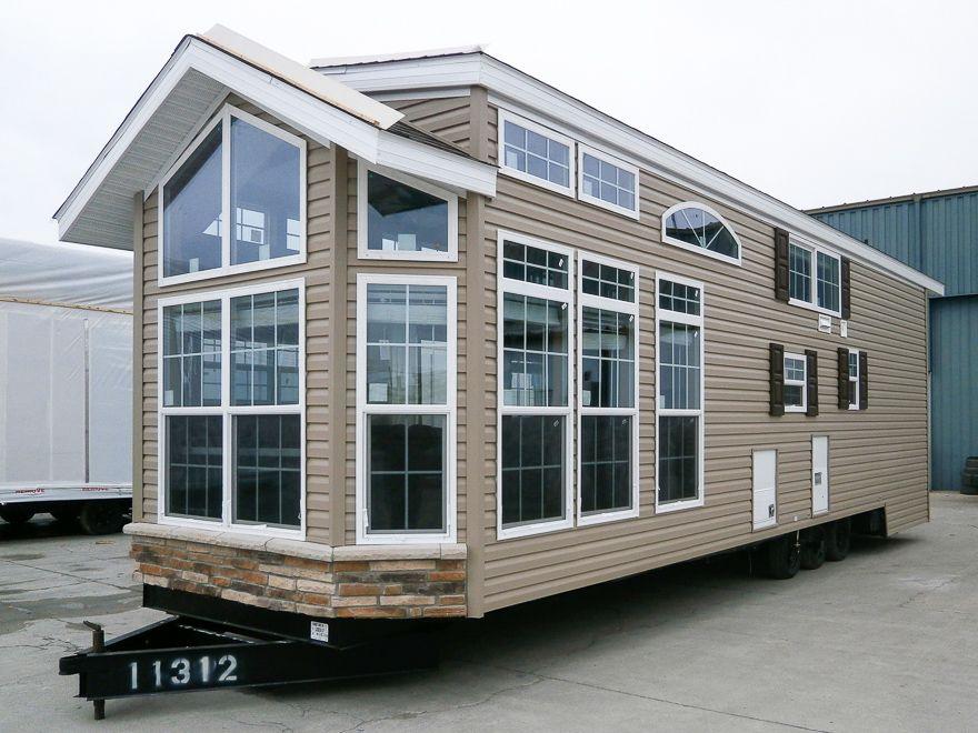 mccook park model homes our nappanee in sales center delivers rh pinterest com