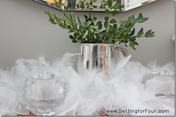 Photo of Winter Mantle Décor – Snowflake Party