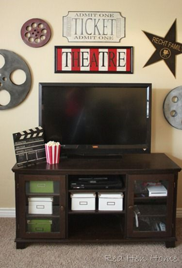 Red Hen Home Theatre Room Knock Off Theater Room Decor Living Room Theaters Movie Room Decor