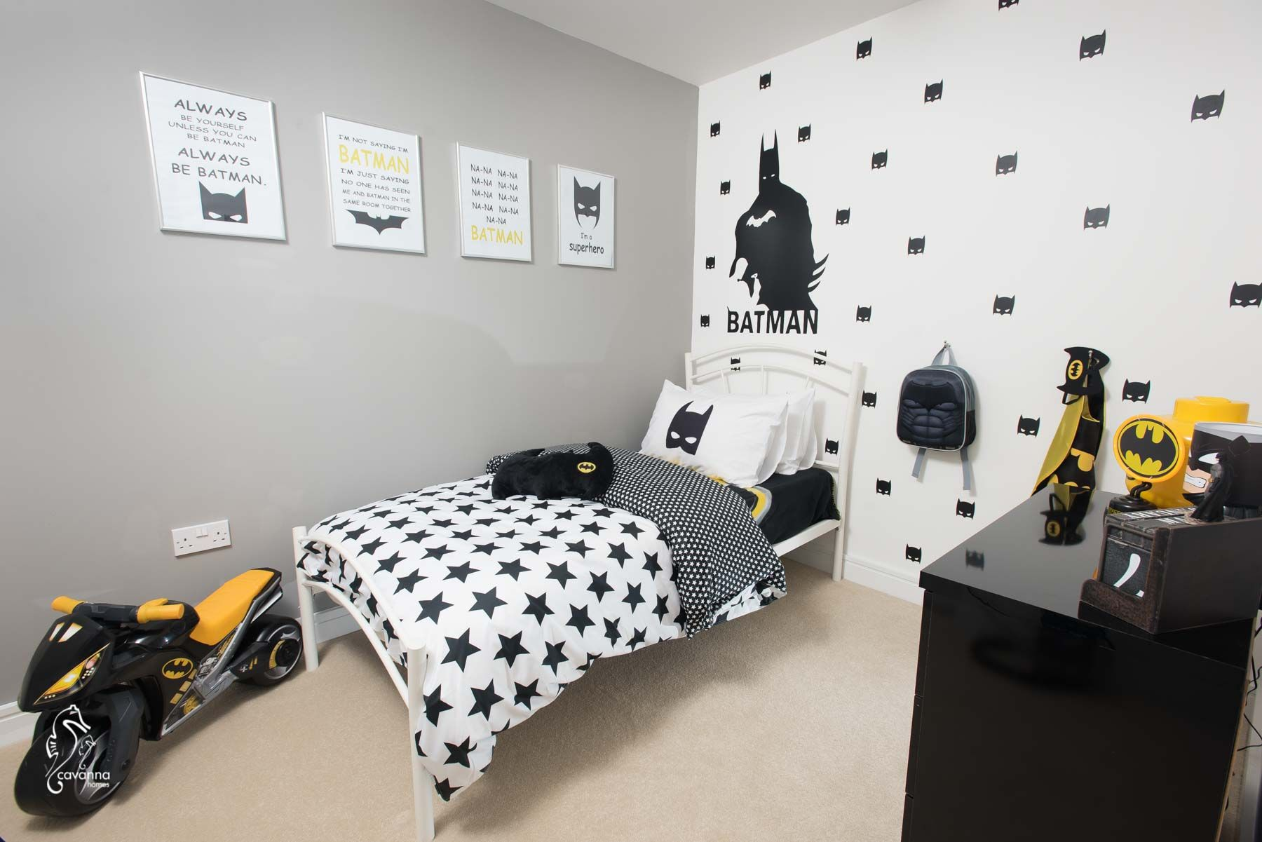 Idee Deco Chambre Garcon Super Heros batman themed bedroom in palstone meadow, south brent- the