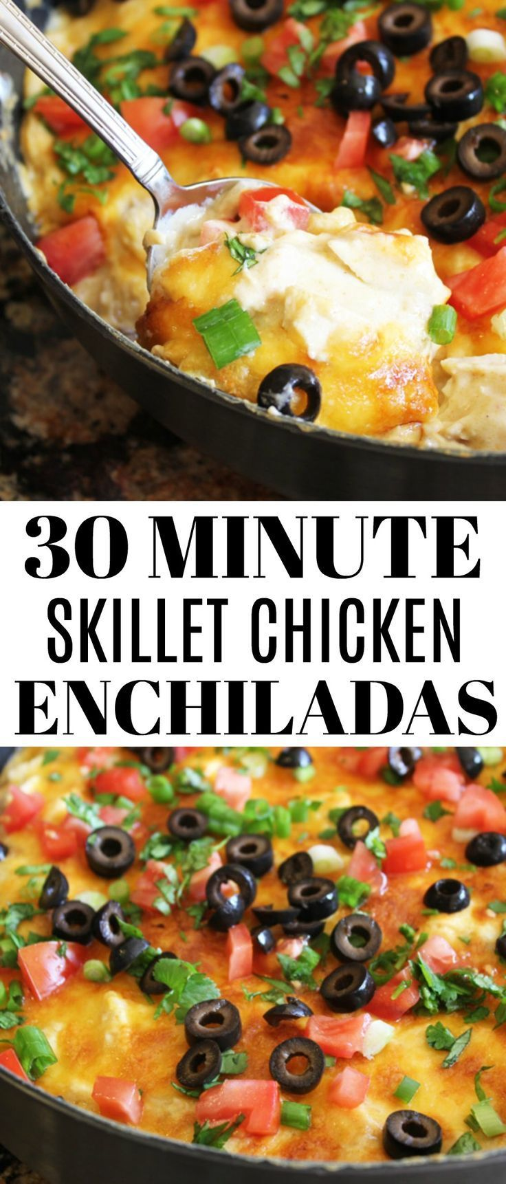 30 Minute Skillet Chicken Enchiladas images
