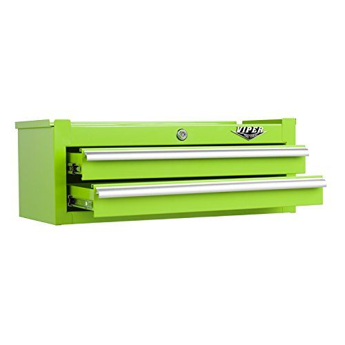 Lime Green 26 Inch 2 Drawer Middle Chest By Viper Tool Storage