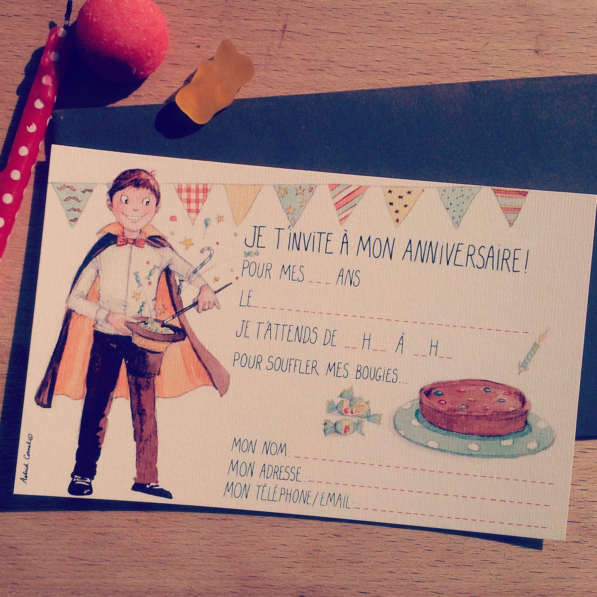 Carte Cartedanniversaire Birthday Birthdaycard Gateaux Bonbons Illustration Illustrationpesronnalis Carte Anniversaire Anniversaire Anniversaire Enfant
