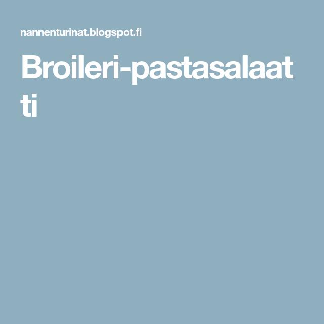 Broileri-pastasalaatti