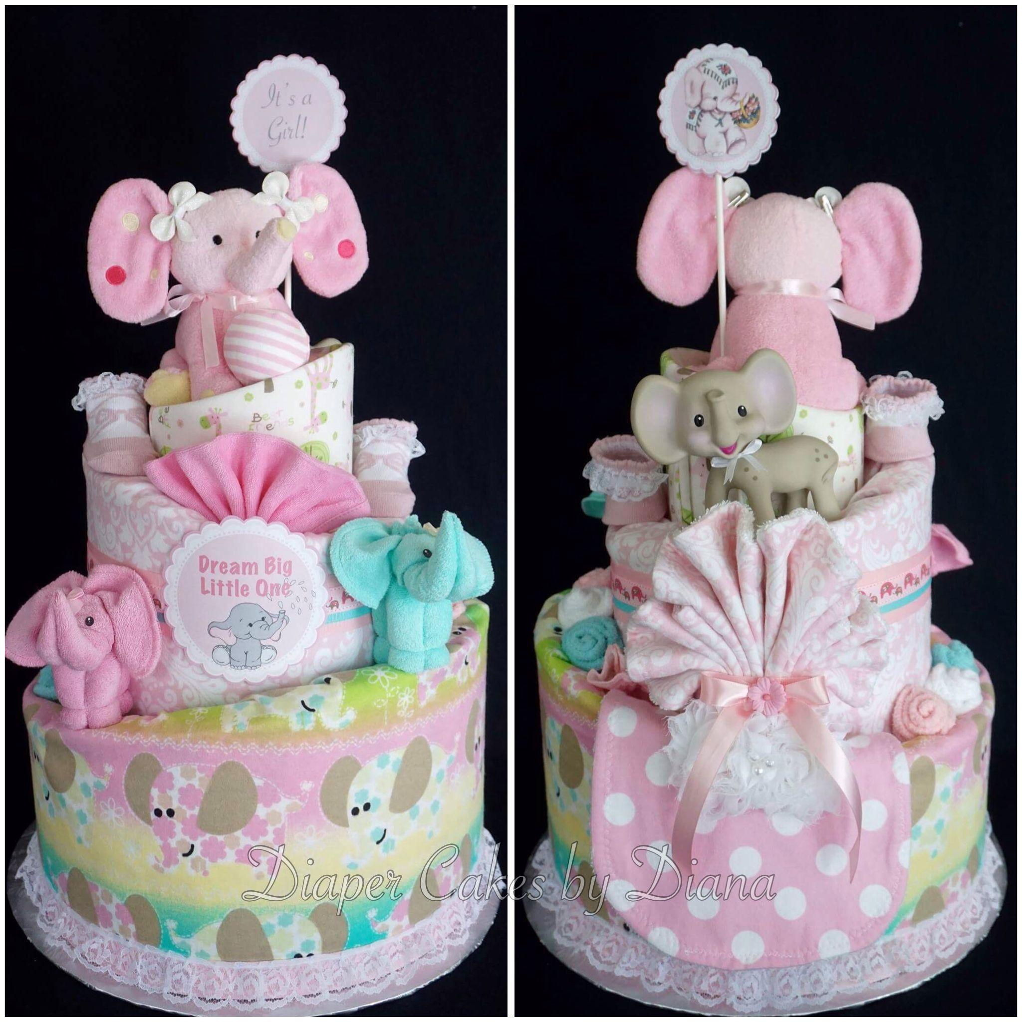 Elephant themed girls diaper cake facebook elephant themed girls diaper cake facebookdiapercakesbydiana negle Gallery