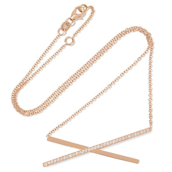 Carbon Hyde Katie 14karat rose gold diamond necklace 9 230 SEK