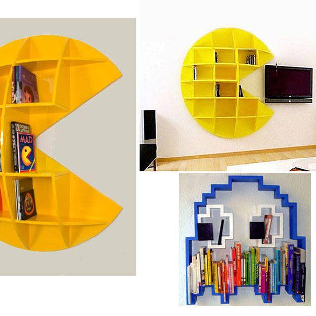 Inspírate con estos llamativos #estantes para #libros con tema de