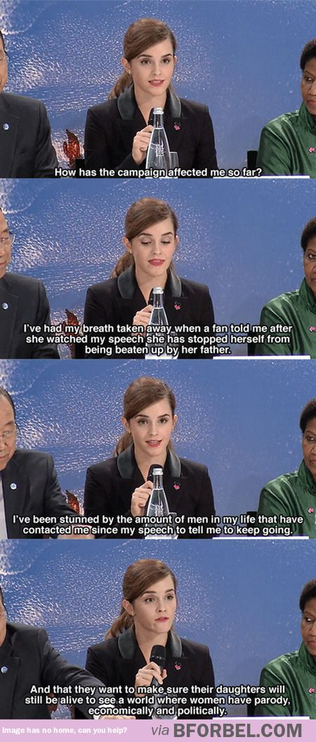 Emma Watson on the overwhelming response she's had for the