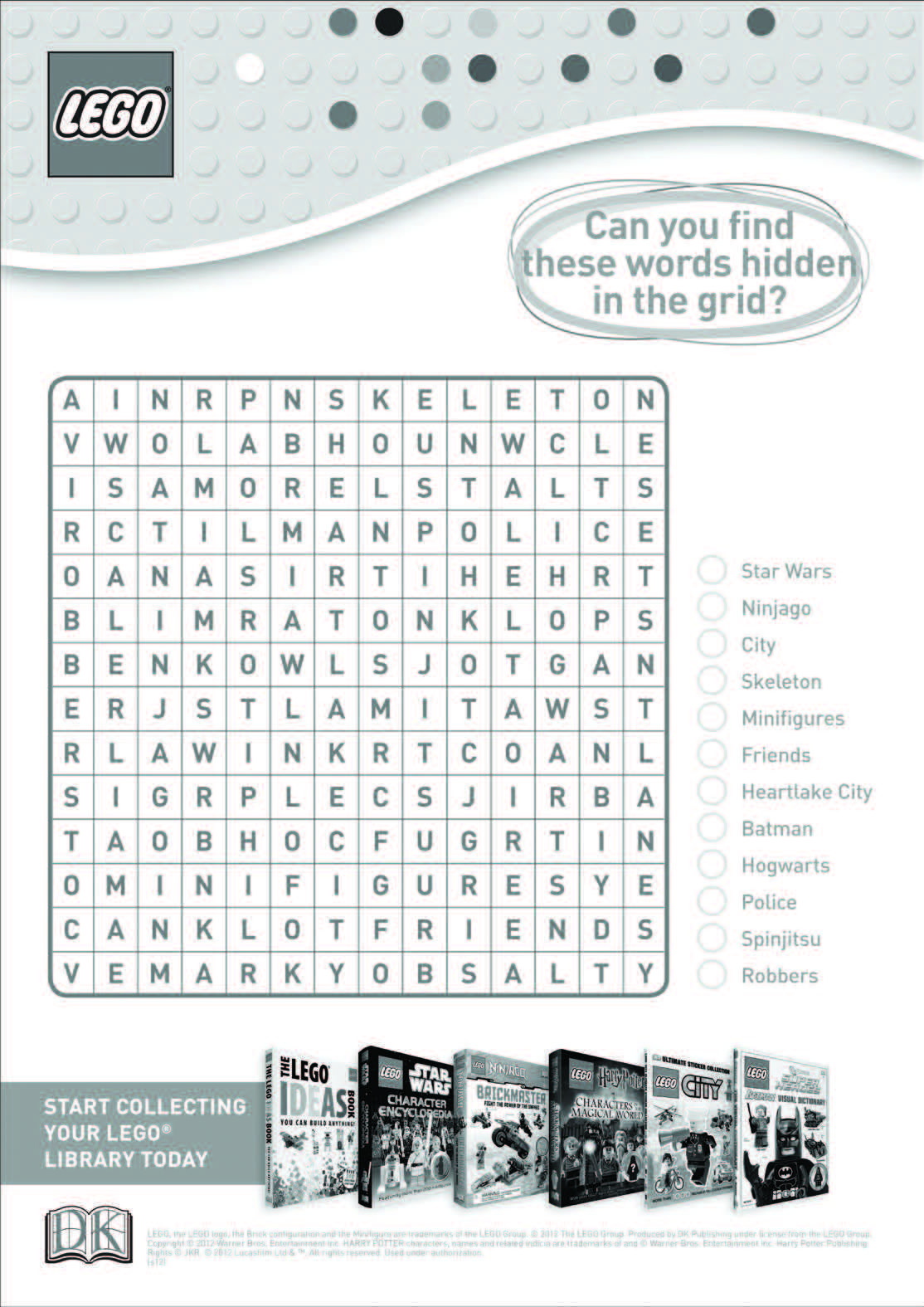 Lego Word Search