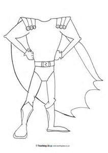 Image result for Superhero Body Template Printable