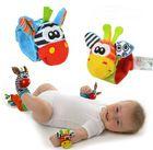 1Pc/2Pcs/4Pcs(2Pcs Socks+2Pcs Wrists)Hot New Infant Baby Kids Sock And Wrist Rattles Cute Intellectual Developmental Toys Animal