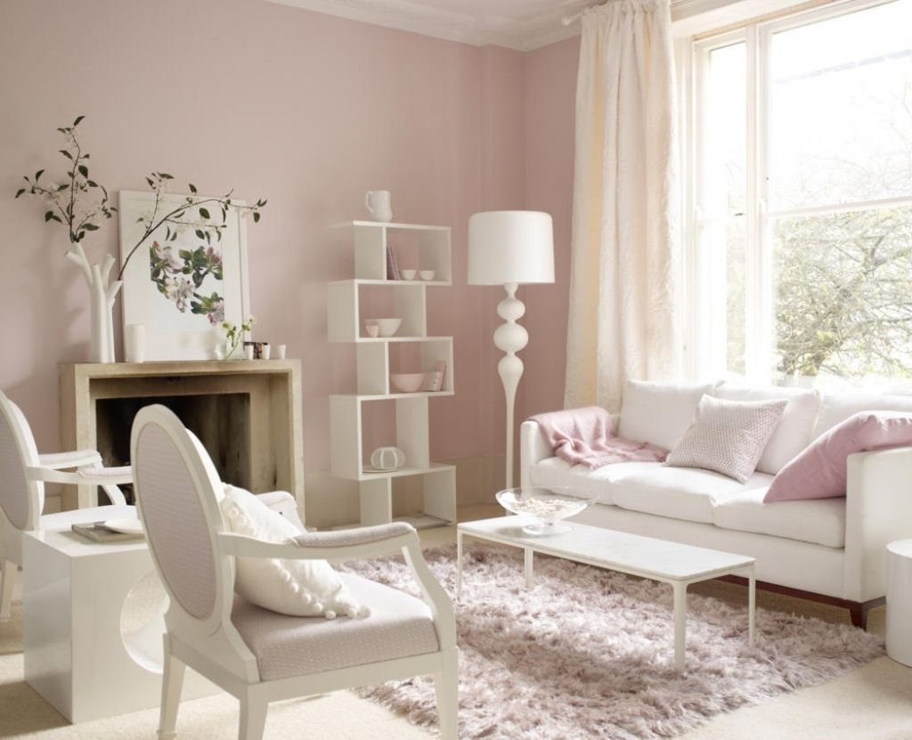 Wandfarbe Schlafzimmer Rosa Moebel In Weiss Und Zartrosa 53f1e5efaa6a2  Wohnzimmer  Wandfarbe