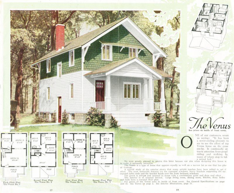 the aladdin venus a sears kit home as seen in the 1919 aladdin - 1919 House Plans