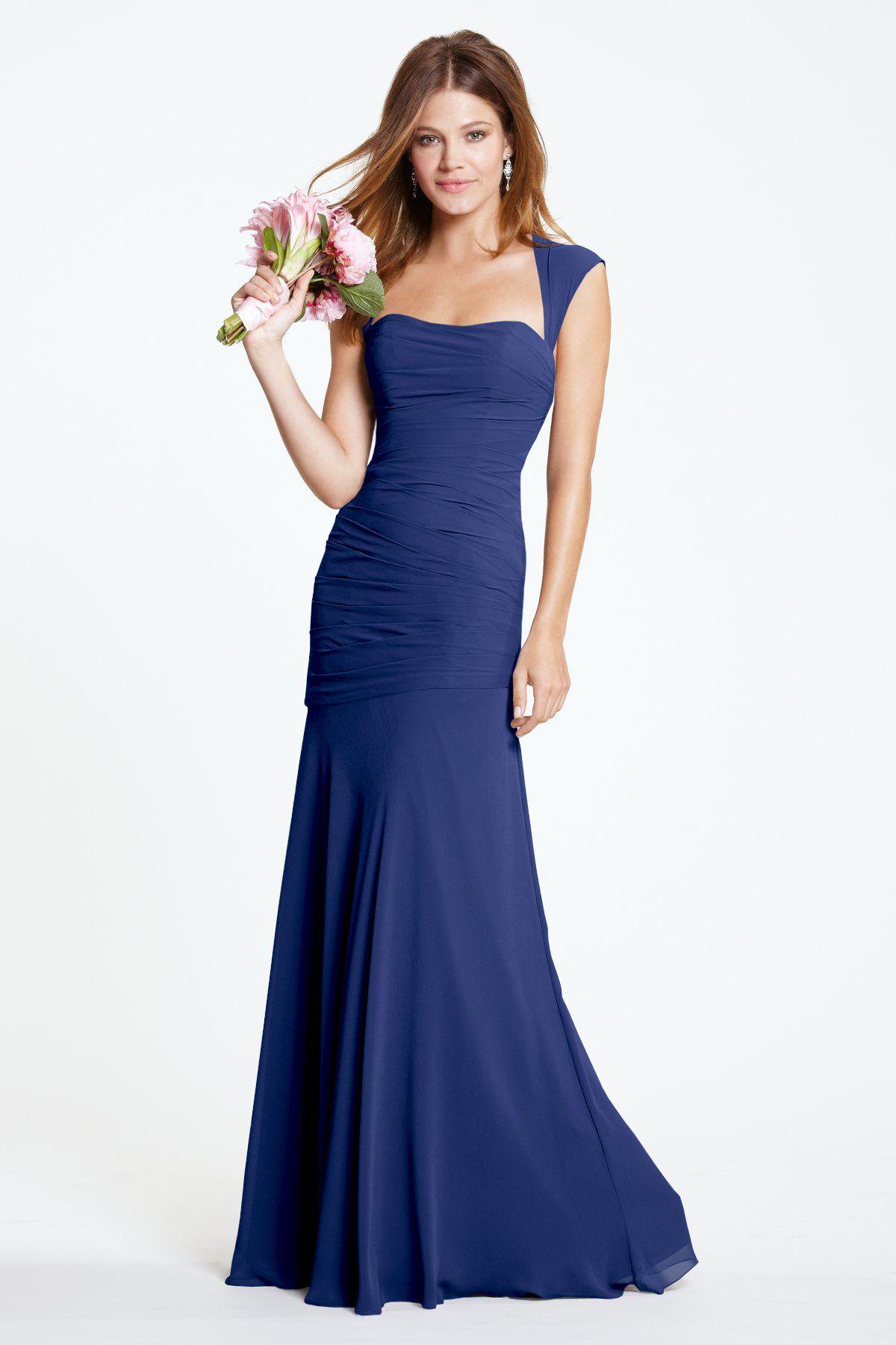 Watters iman bridesmaid dress weddington way peacock wedding