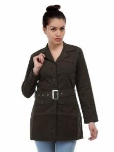 Kraus Jeans Women Coffee Brown Jacket | Brown jacket ...