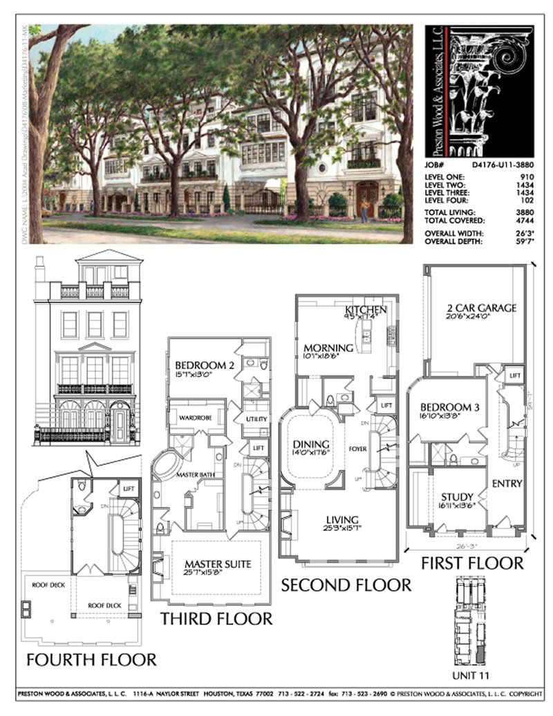 Modern Townhouse Design Brick Row House New Town Home Development Preston Wood Associates Row House Design Row House Townhouse Designs