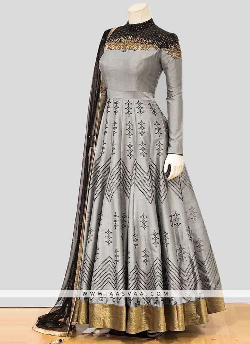 910f3606cc traditional #indian #grey #designer #anarkali #gowns   s in 2019 ...