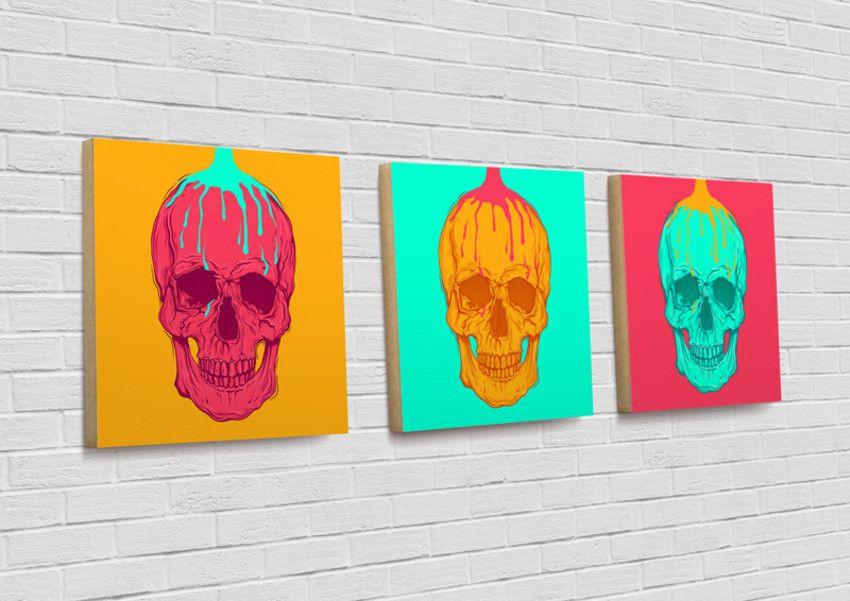 Kit de Quadros Pop Skull - HC Store
