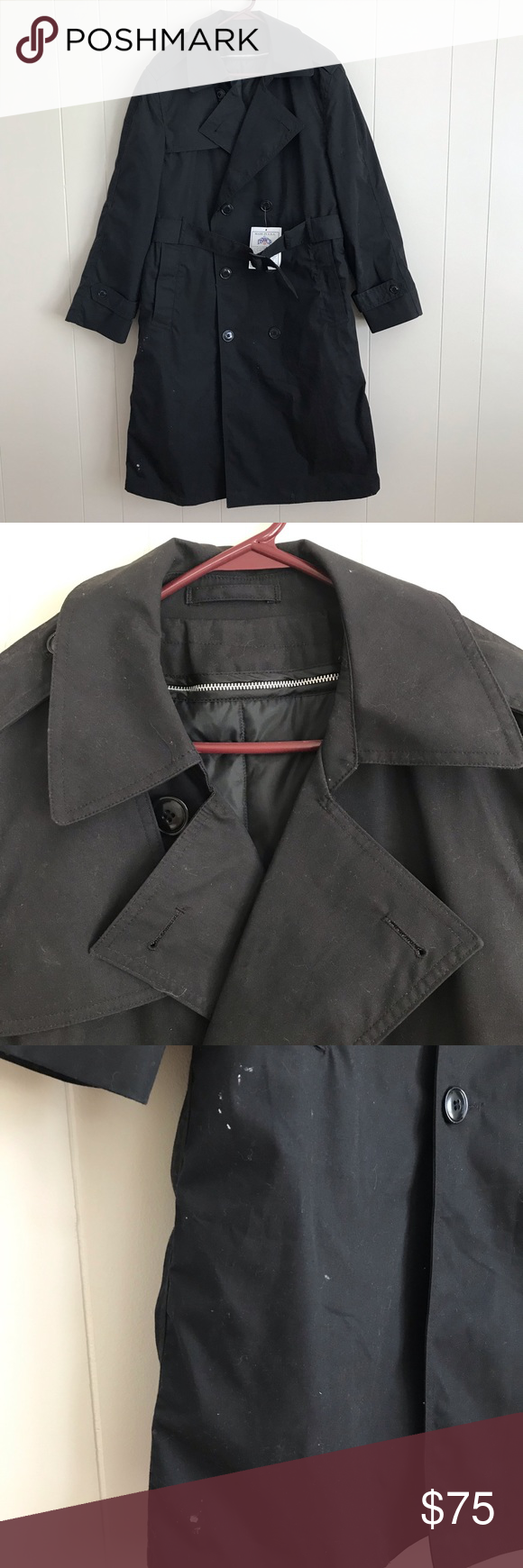 Dscp Military Black Trench Coat Zip Out Liner 38s Dscp Garrison Collection Usa Made Men S Military Double Bre Trench Coat Black Trench Coat Trench Coat Jackets [ 1740 x 580 Pixel ]