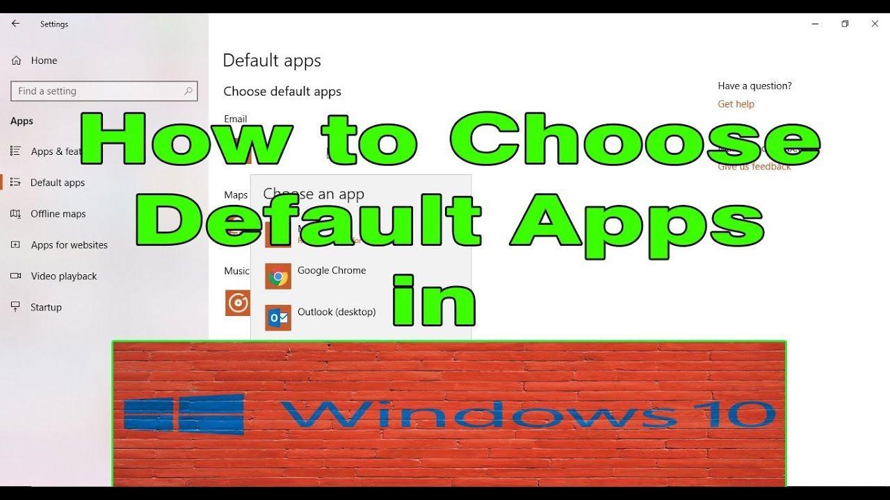 How to change default apps in windows 10 Videos tutorial