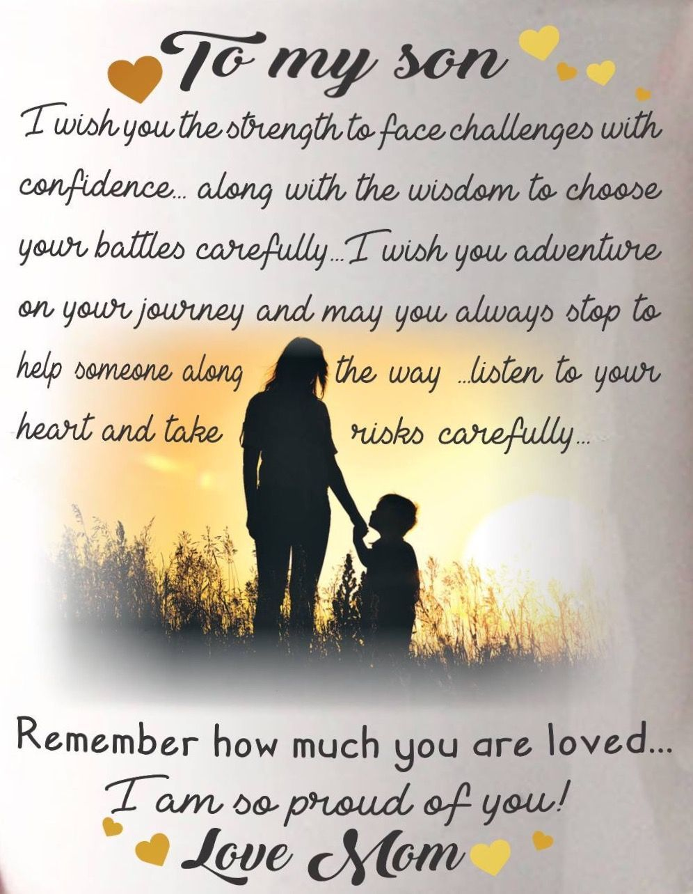 Love my son mother   son bond !!! Still ALWAYS A DAILY CHALLANGE