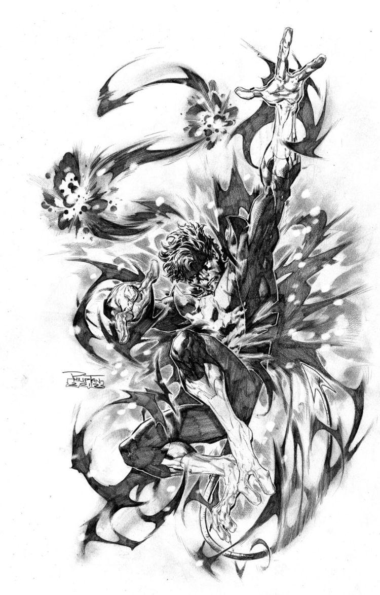 Rondador Nocturno / Nightcrawler (pencil by Philip Tan