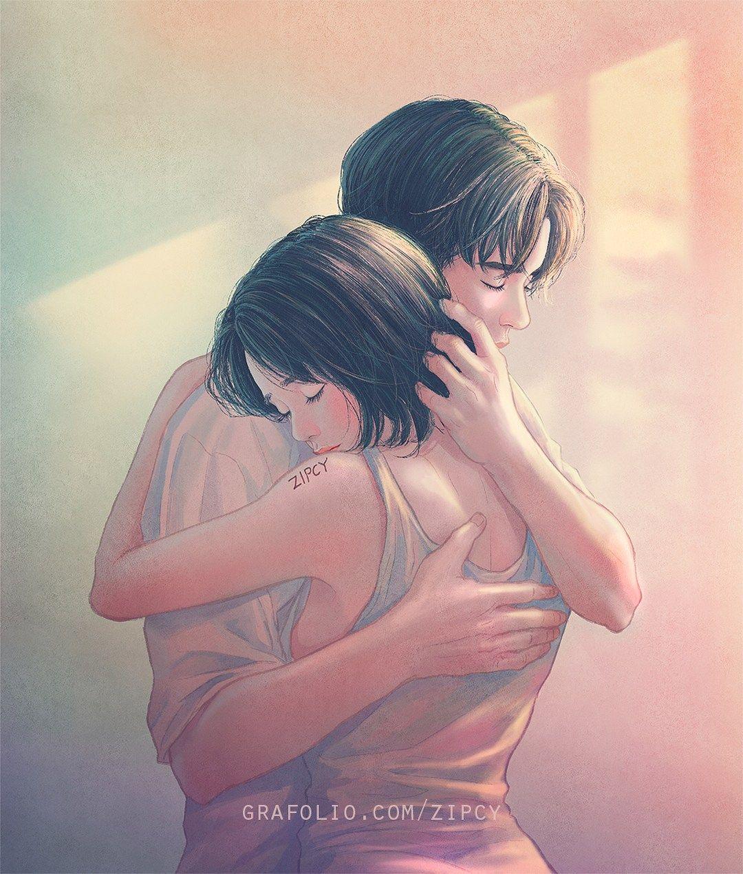 Zipcy illustrator of heart touching world of love