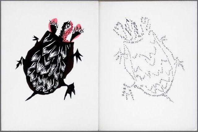 Le Bestiaire Fabuleux Typographic Art Fabulous Beasts Art
