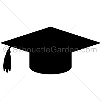 Graduation Cap Silhouette Graduation Cap Graduation Cap Clipart Graduation Clip Art